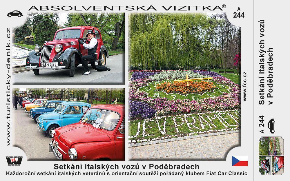 Setkání italských vozů v Poděbradech