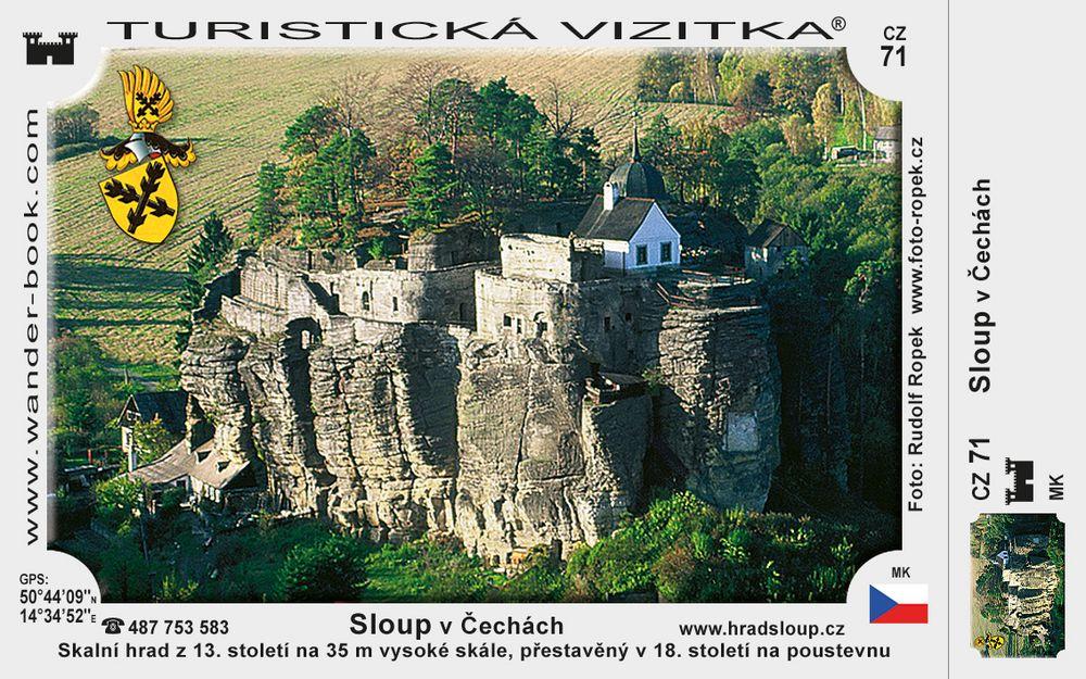 Skalní hrad poustevna Sloup
