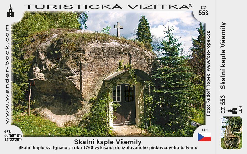Skalní kaple Všemily