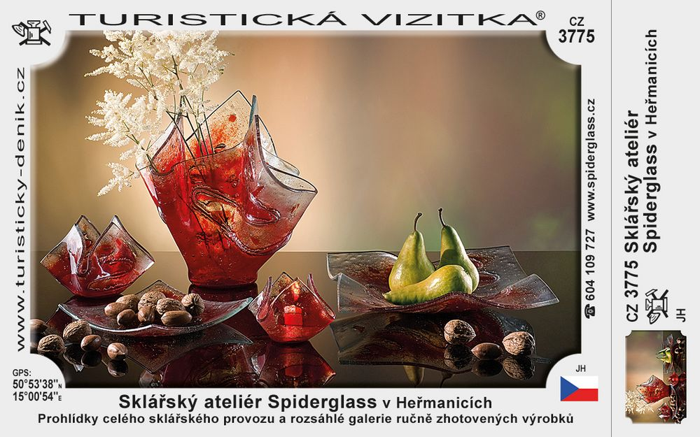 Sklářský ateliér Spiderglass v Heřmanicích