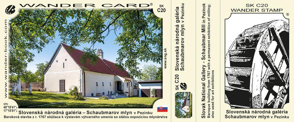 Slovenská národná galéria – Schaubmarov mlyn v Pezinku