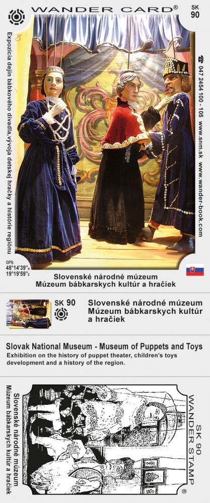 Slovenské národné múzeum - Múzeum bábkarskych kultúr a hračiek