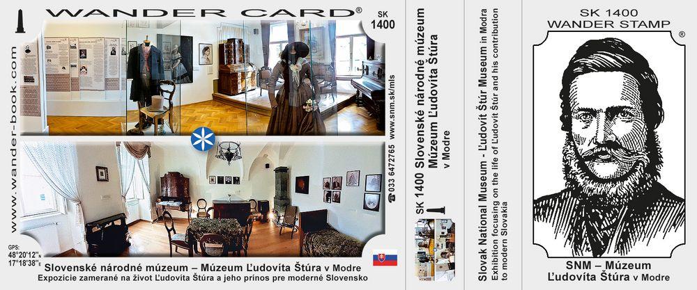 Slovenské národné múzeum – Múzeum Ľudovíta Štúra v Modre