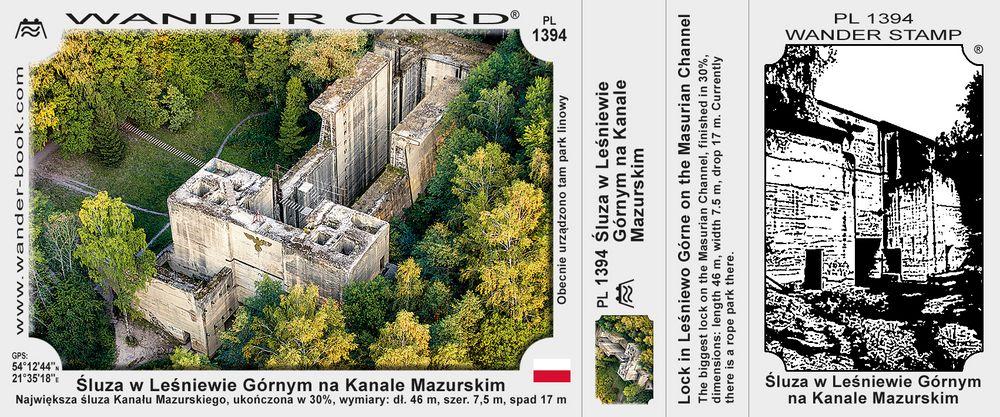 Śluza w Leśniewie Górnym na Kanale mazurskim