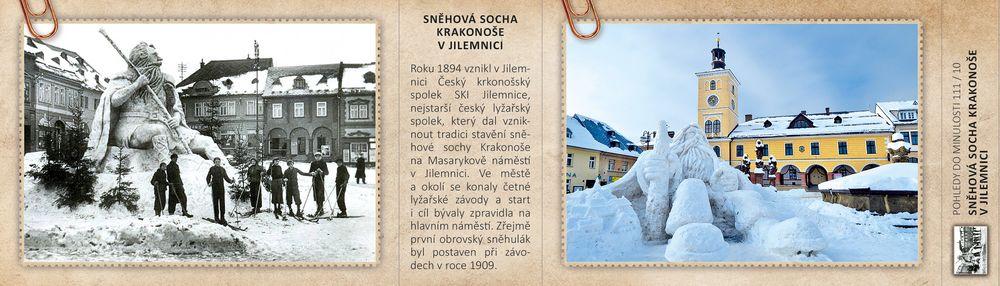 Sněhová socha Krakonoše v Jilemnici