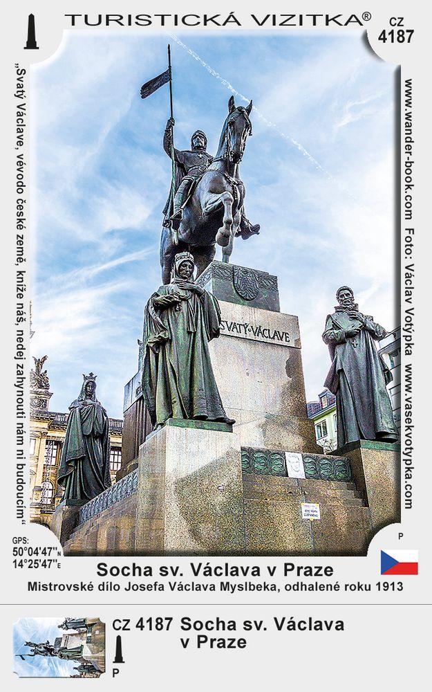 Socha sv. Václava v Praze