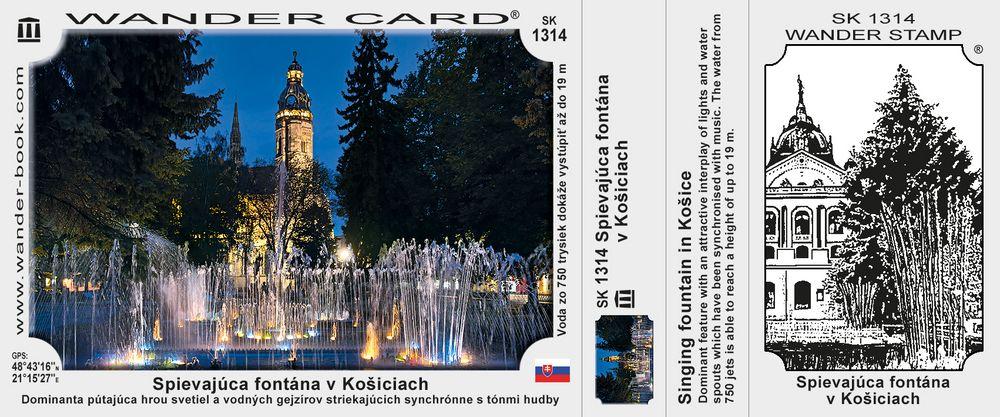 Spievajúca fontána v Košiciach