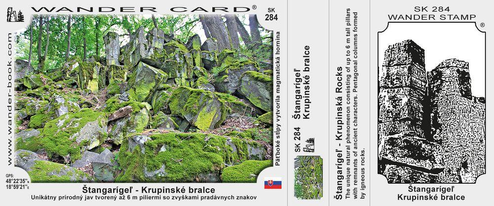 Štangarígeľ - Krupinské bralce