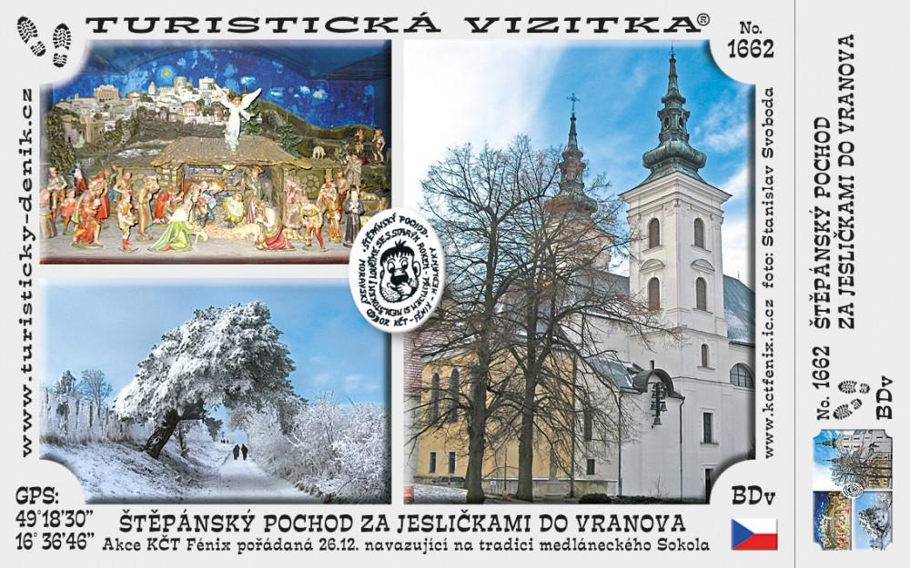 Štěpánský pochod za jesličkami do Vranova (prosinec)