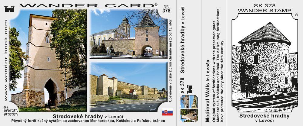 Stredoveké hradby v Levoči