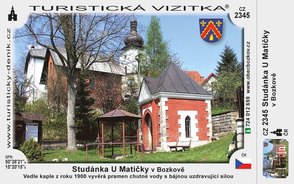 Studánka u matičky v Bozkově