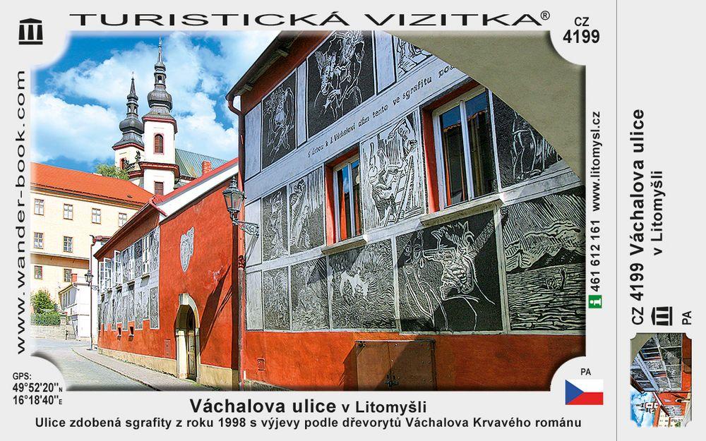 Váchalova ulice v Litomyšli