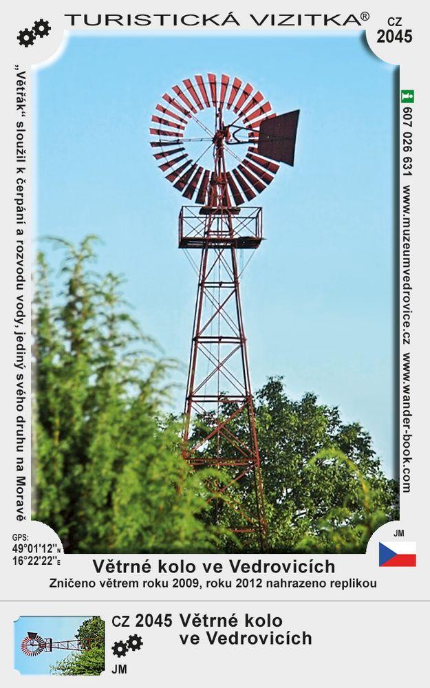 Větrné kolo ve Vedrovicích