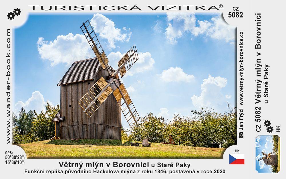 Větrný mlýn v Borovnici u Staré Paky