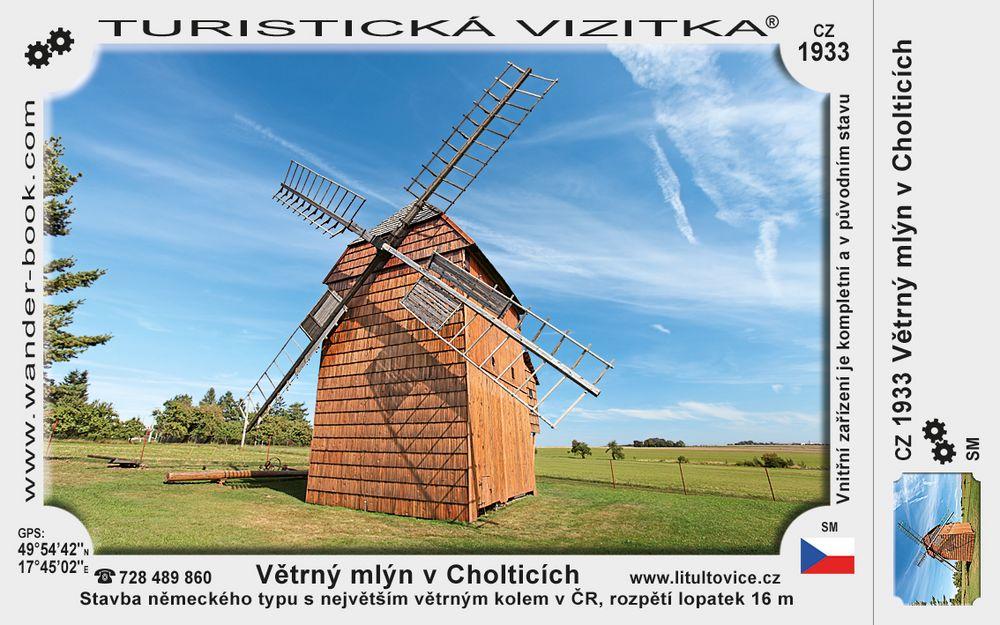 Větrný mlýn v Cholticích