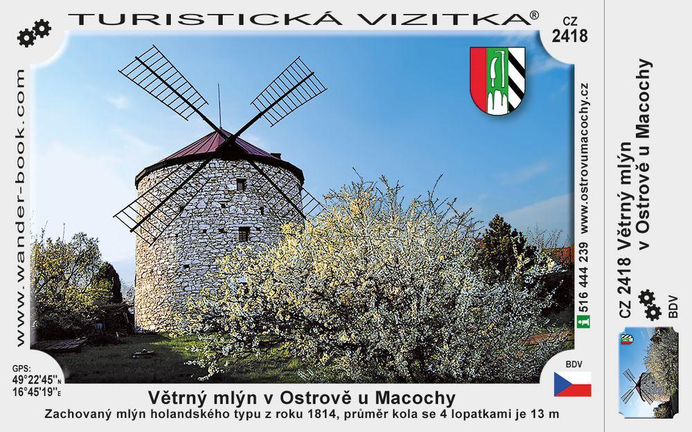 Větrný mlýn v Ostrově u Macochy
