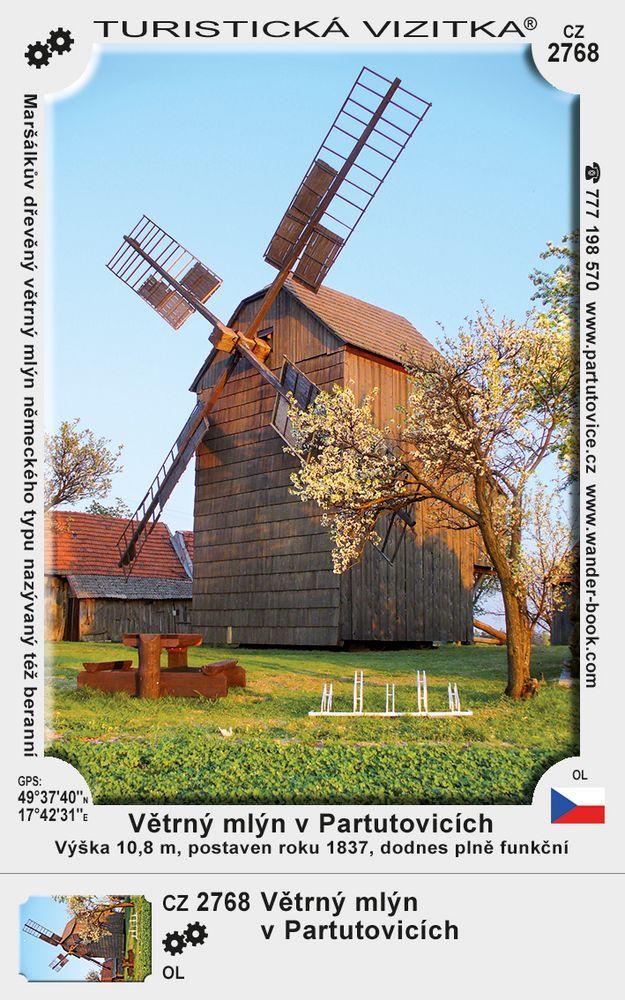 Větrný mlýn v Partutovicích