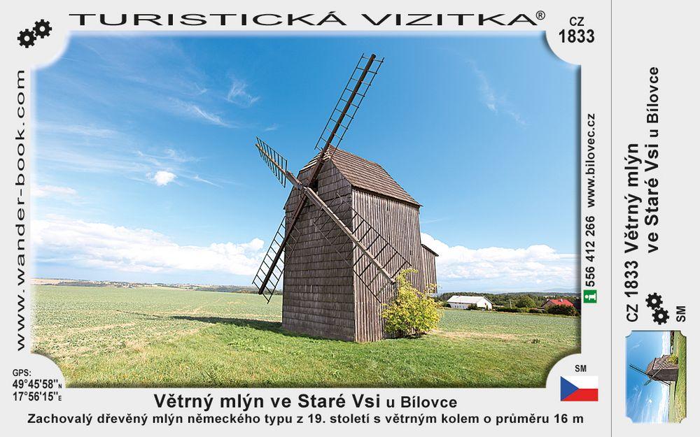 Větrný mlýn ve Staré Vsi u Bílovce