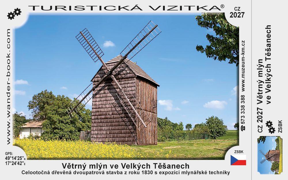 Větrný mlýn ve Velkých Těšanech