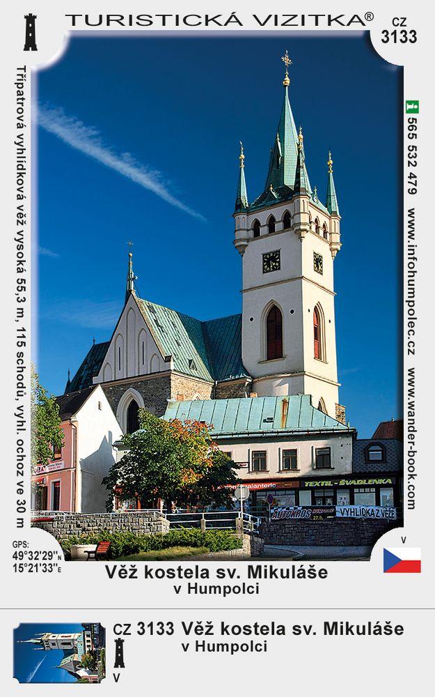 Věž kostela sv. Mikuláše v Humpolci