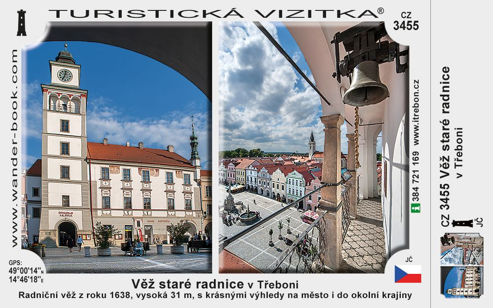 Věž staré radnice v Třeboni