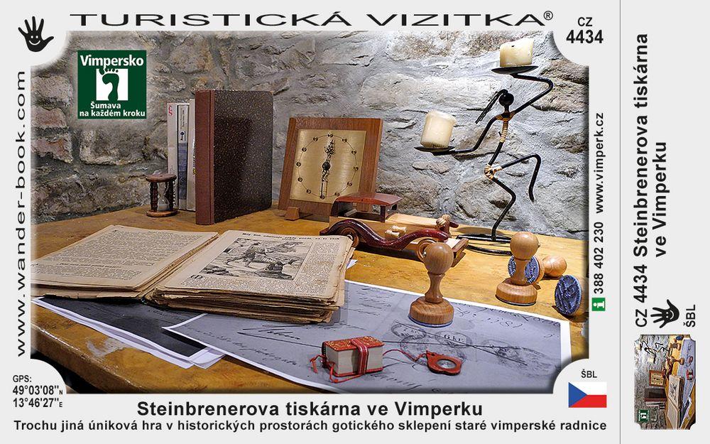 Vimperk Steinbrenerova tiskárna