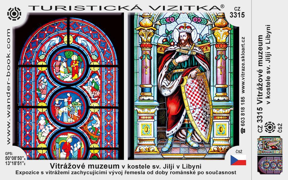 Vitrážové muz. v kostele sv. Jiljí v Libyni