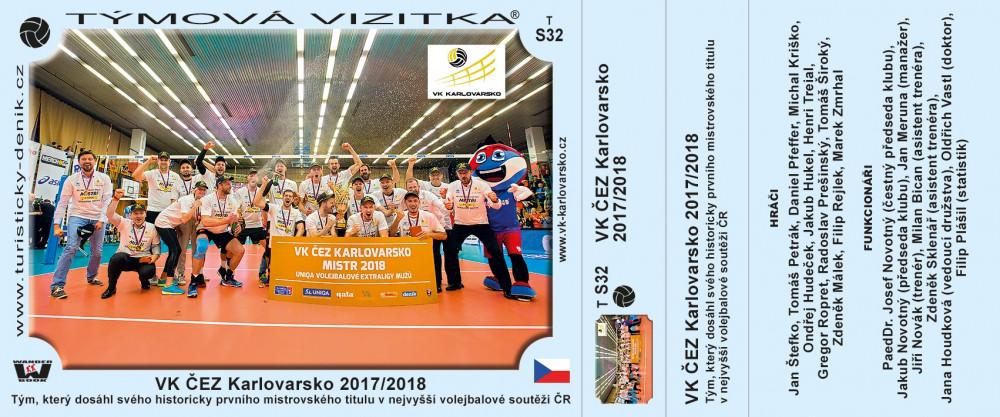 VK ČEZ Karlovarsko 2017/2018
