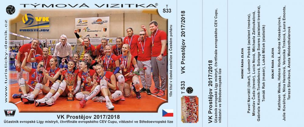 VK Prostějov 2017/2018