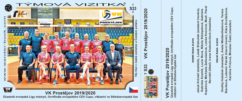 VK Prostějov 2019/2020