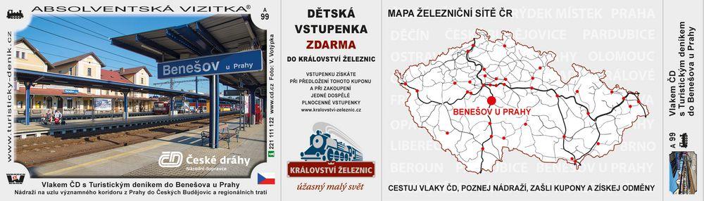 Vlakem ČD s TD do Benešova u Prahy D