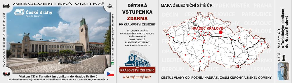 Vlakem ČD s TD do Hradce Králové D