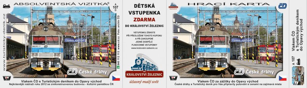 Vlakem ČD s Turistickým deníkem do Opavy východ