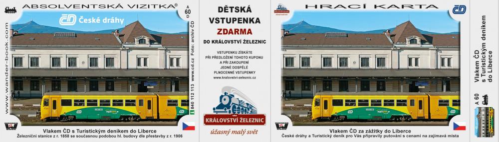 Vlakem ČD s Turistickým deníkem do Liberce