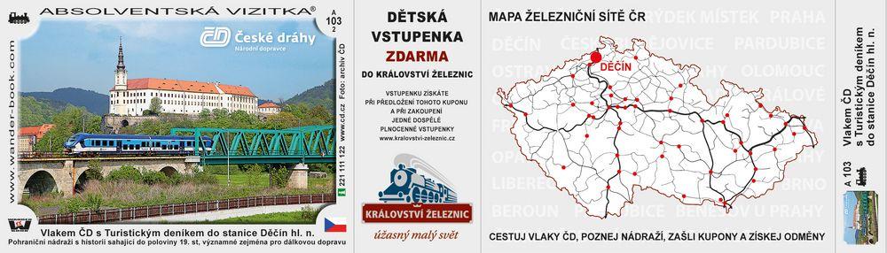 Vlakem ČD s Turistickým deníkem do Děčína