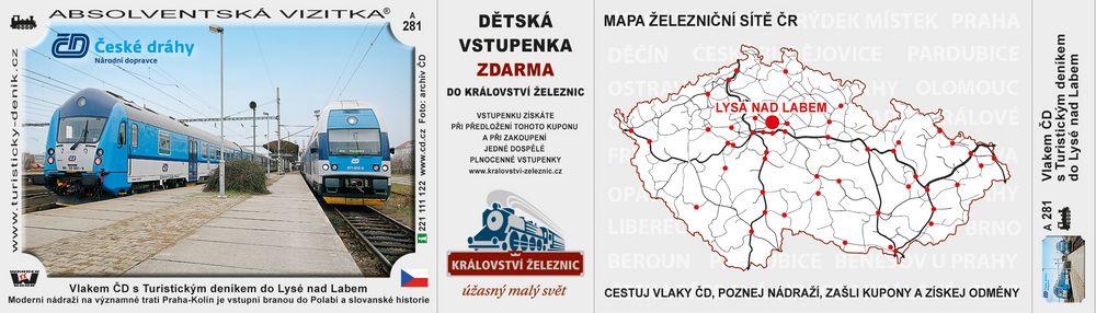 Vlakem ČD s Turistickým deníkem do Lysé nad Labem