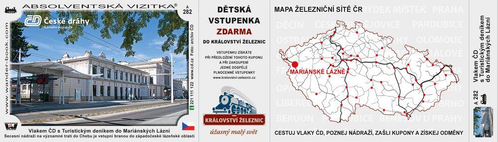 Vlakem ČD s Turistickým deníkem do Mariánských Lázní