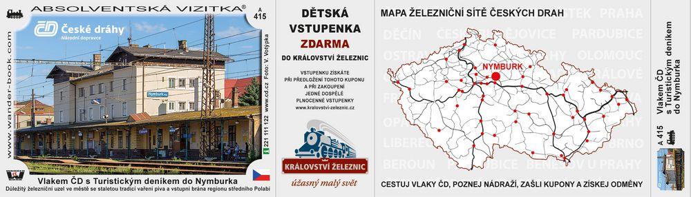 Vlakem ČD s Turistickým deníkem do Nymburka