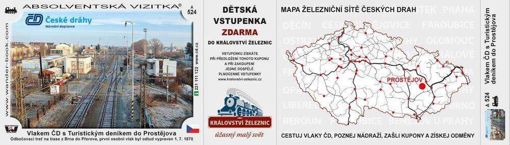 Vlakem ČD s Turistickým deníkem do Prostějova