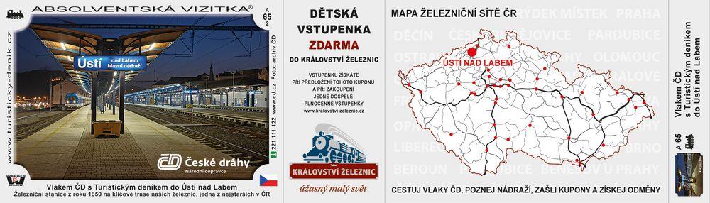 Vlakem ČD s Turistickým deníkem do Ústí n. L.