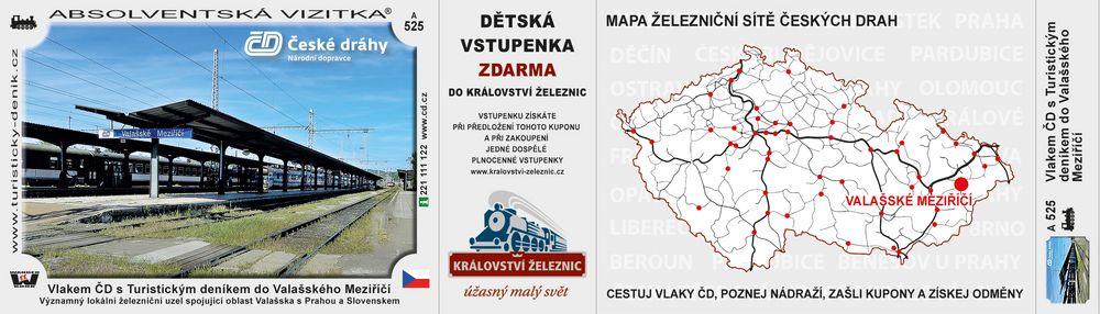 Vlakem ČD s Turistickým deníkem do Valašského Meziříčí