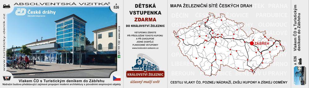 Vlakem ČD s Turistickým deníkem do Zábřehu