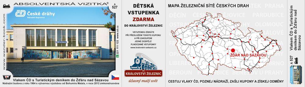 Vlakem ČD s Turistickým deníkem do Žďáru nad Sázavou