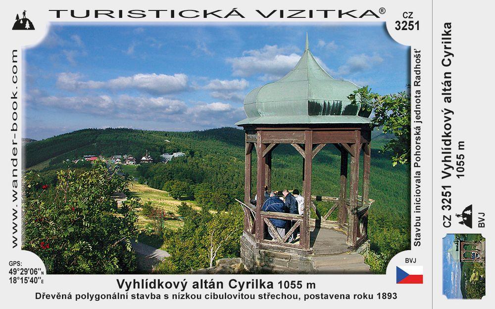 Vyhlídkový altán Cyrilka