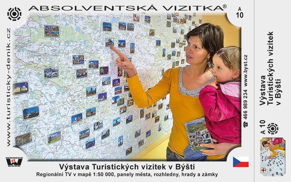 Výstava Turistických vizitek v Býšti