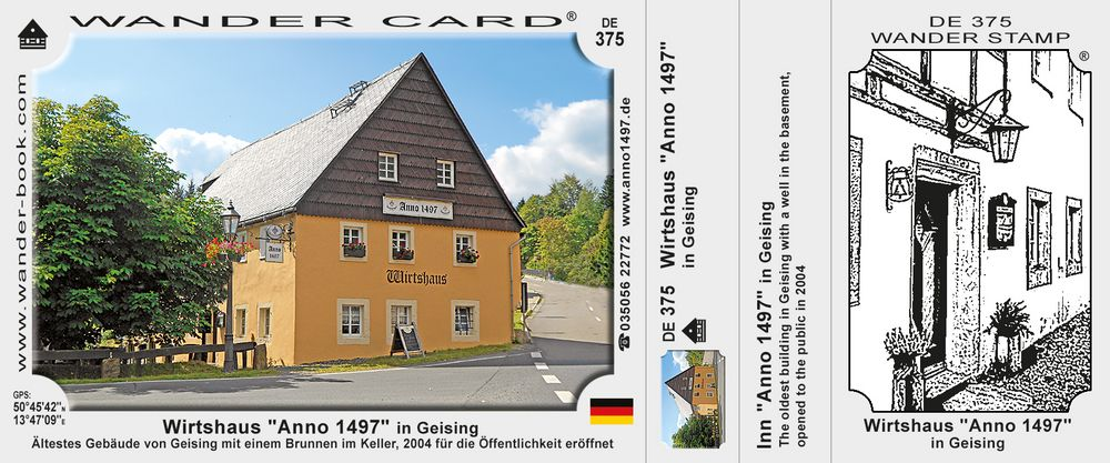 """Wirtshaus """"Anno 1497"""" in Geising"""