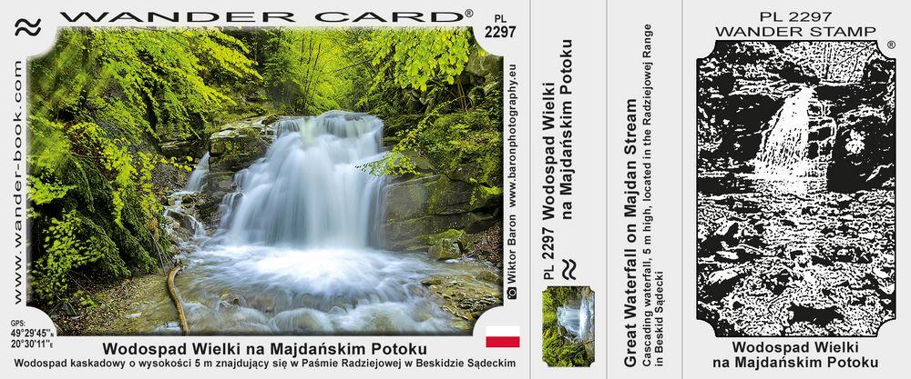 Wodospad Wielki na Majdańskim Potoku