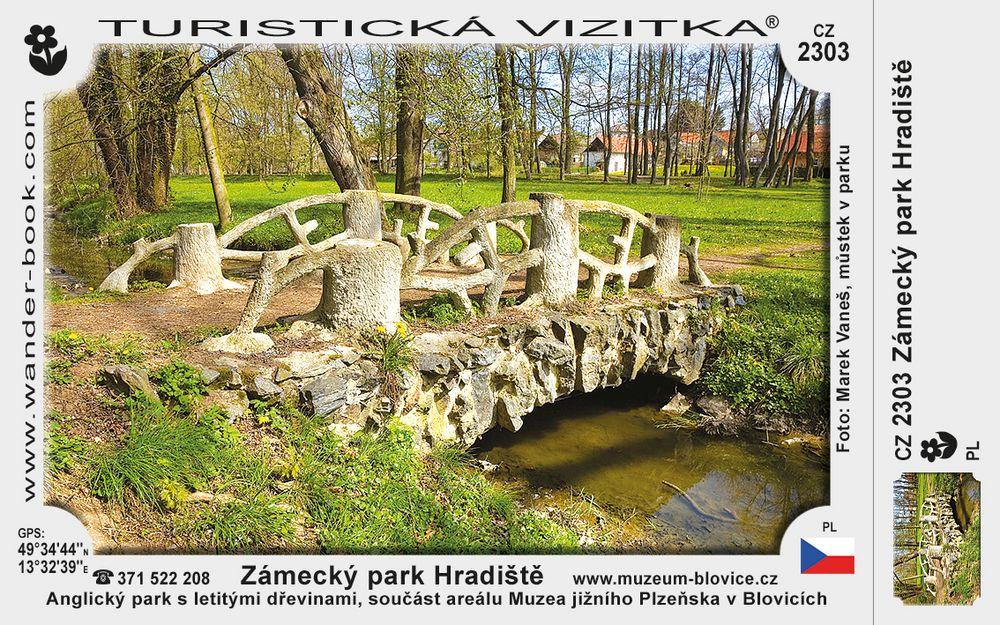 Zámecký park Hradiště