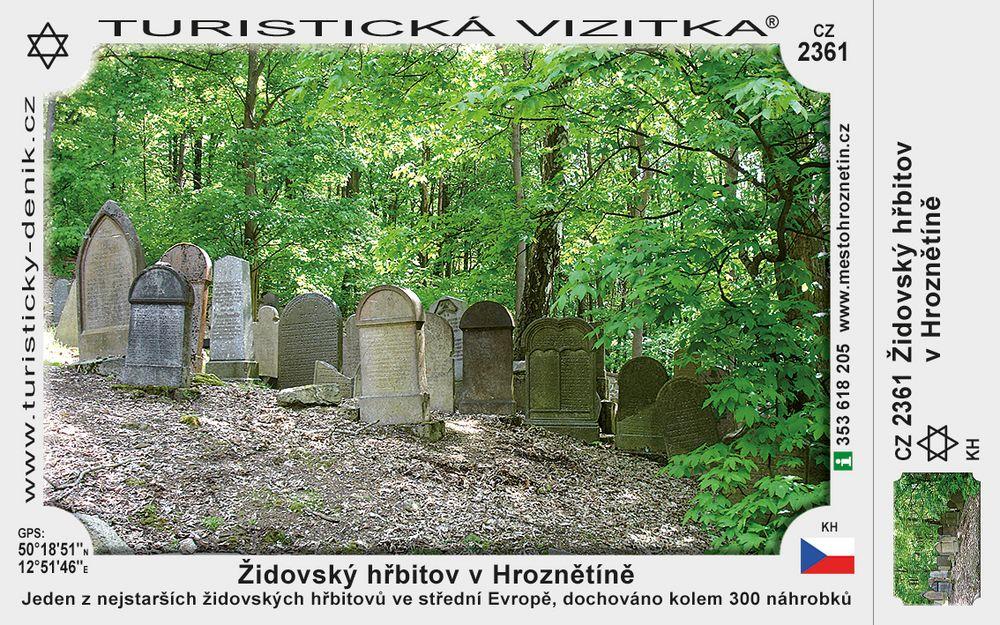 Židovský hřbitov v Hroznětíně