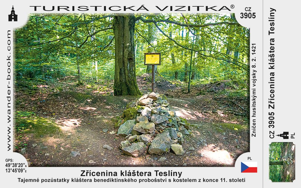Zřícenina kláštera Teslíny